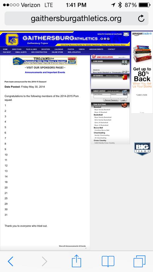 Pom Roster June 2014