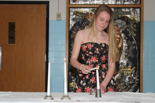 Hailey NJHS Candle Lighting